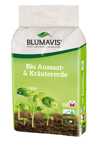 Bio Erde für Aussaat und Kräuter